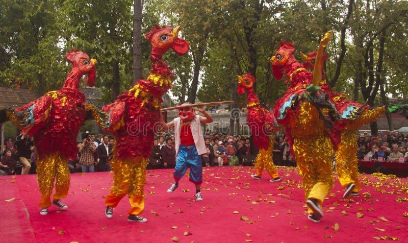Pollo del baile fotos de archivo