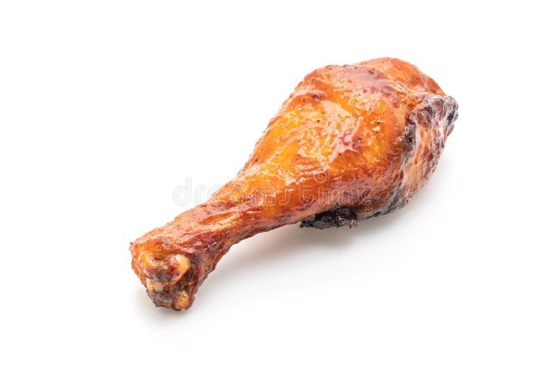 pollo del barbecue e arrostito fotografie stock