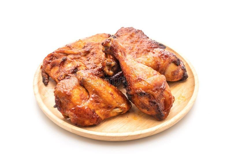 pollo del barbecue e arrostito fotografia stock libera da diritti