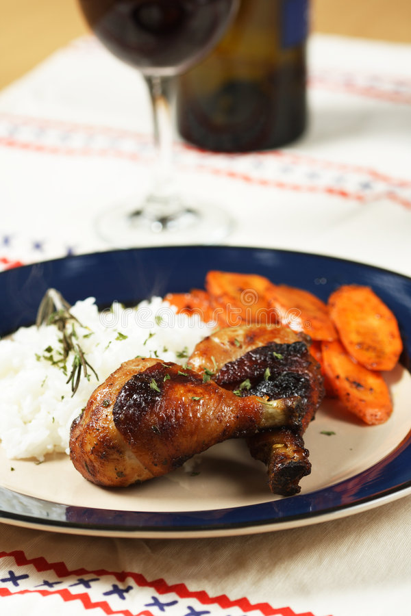 Pollo del BBQ fotografia stock
