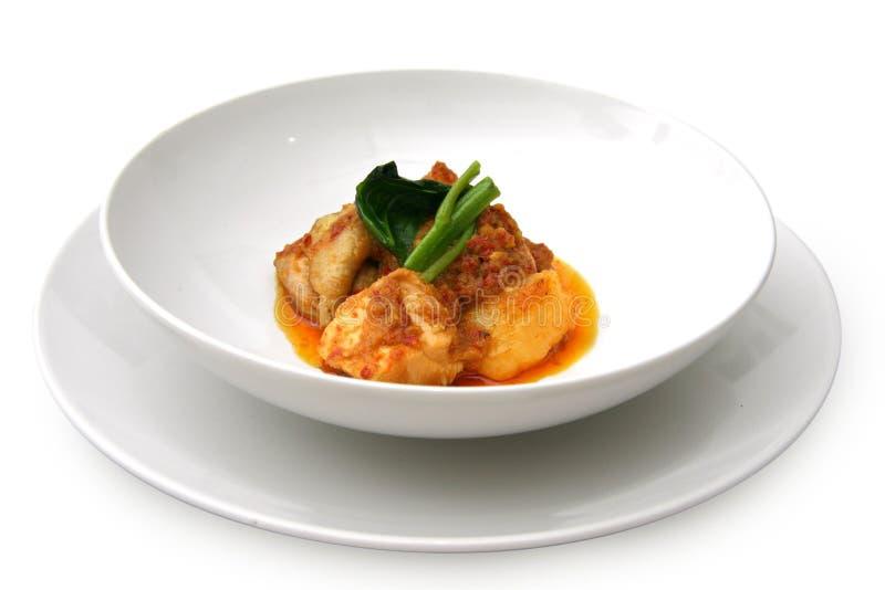 Pollo del curry fotografia stock