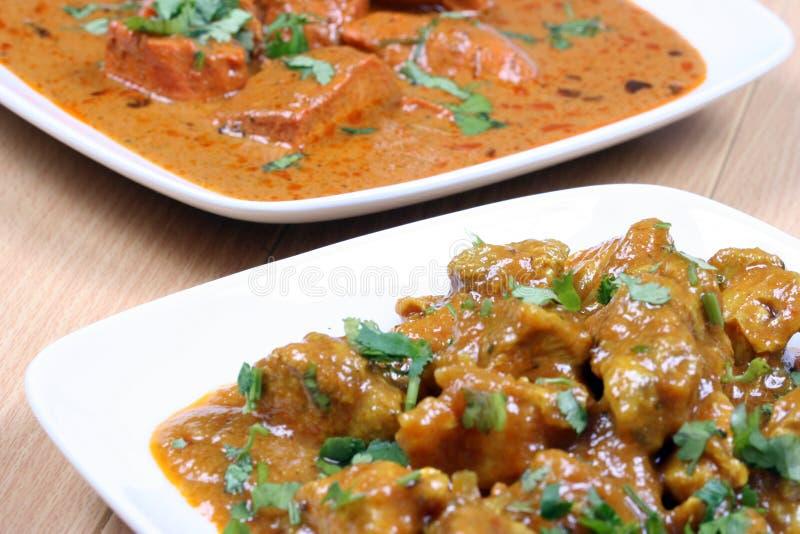 Pollo del curry y de la mantequilla del pollo imágenes de archivo libres de regalías