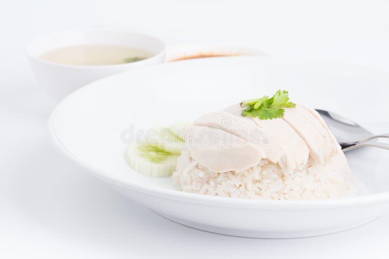 Pollo del vapor con arroz fotos de archivo
