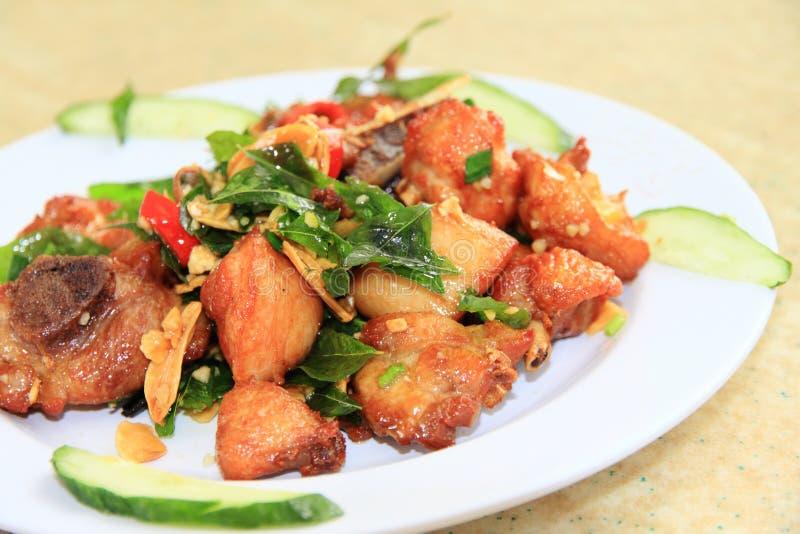 Pollo dell'aglio immagini stock