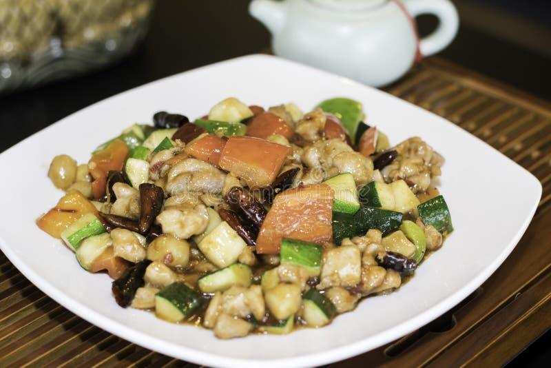 Pollo di Kung Pao fotografie stock