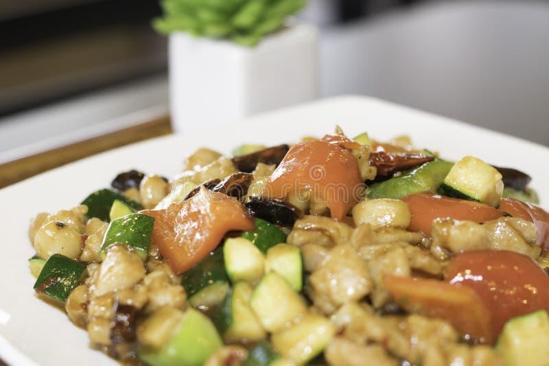 Pollo di Kung Pao immagini stock