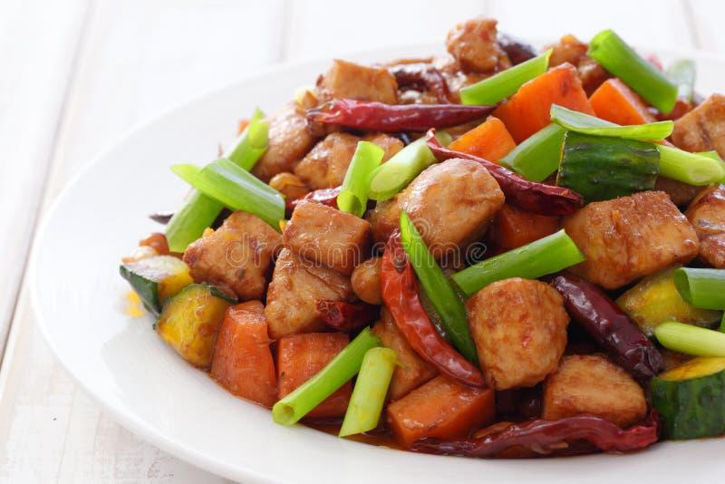 Pollo di pao di Kung fotografia stock