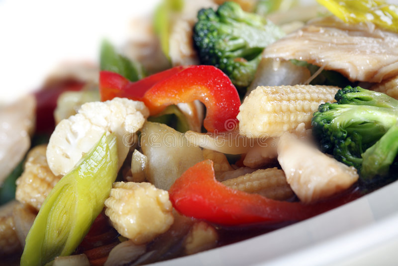 Pollo e verdure fotografie stock
