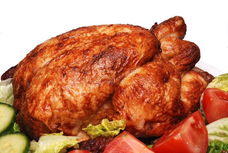 Pollo ed insalata di arrosto fotografie stock