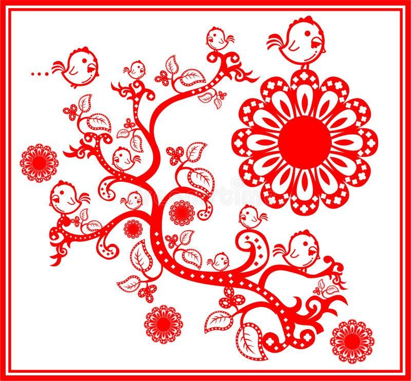 Pollo en el árbol imagen de archivo libre de regalías