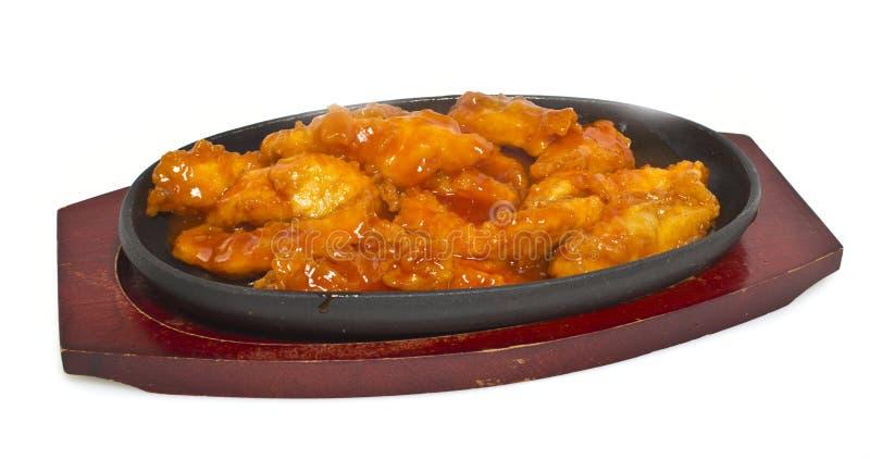 Pollo en salsa tailandesa imagen de archivo