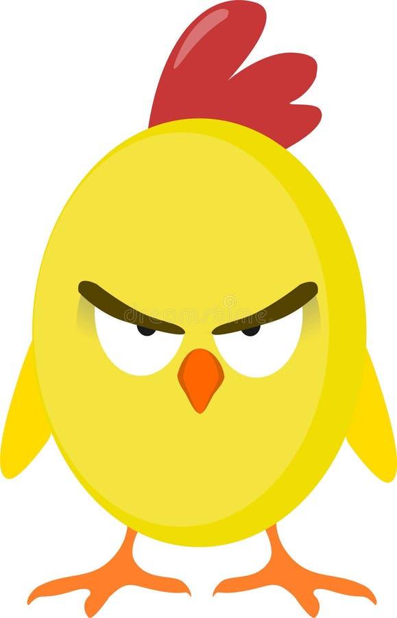 Pollo enojado stock de ilustración