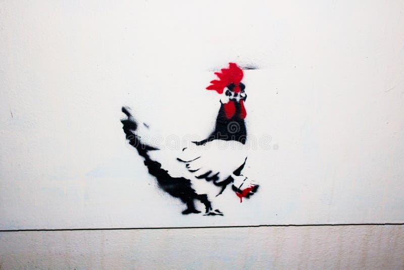 Pollo esloveno de pintura de la pintada imágenes de archivo libres de regalías