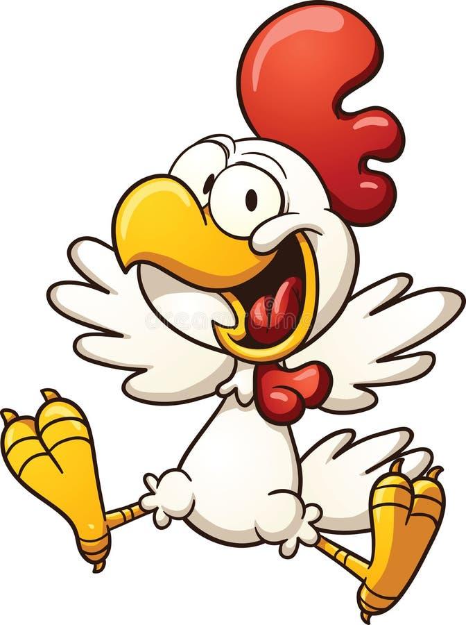 Pollo feliz ilustración del vector