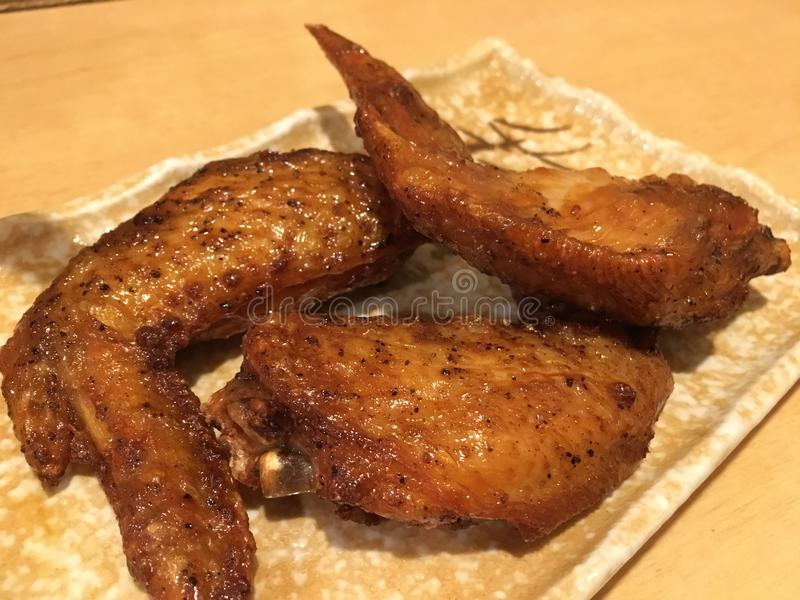 Pollo frito curruscante foto de archivo