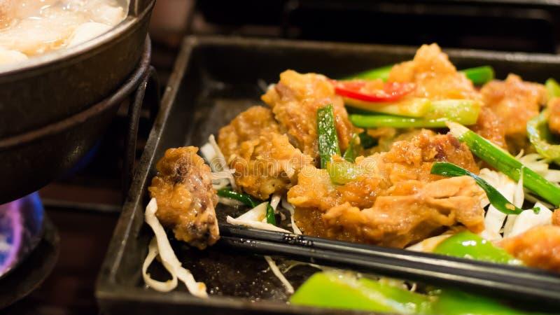 Pollo frito del taiwanés foto de archivo