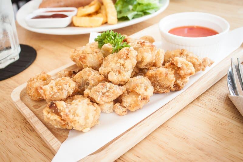 Pollo frito Karaage del japonés imágenes de archivo libres de regalías