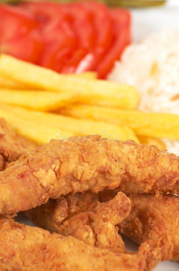 Pollo fritto fotografia stock