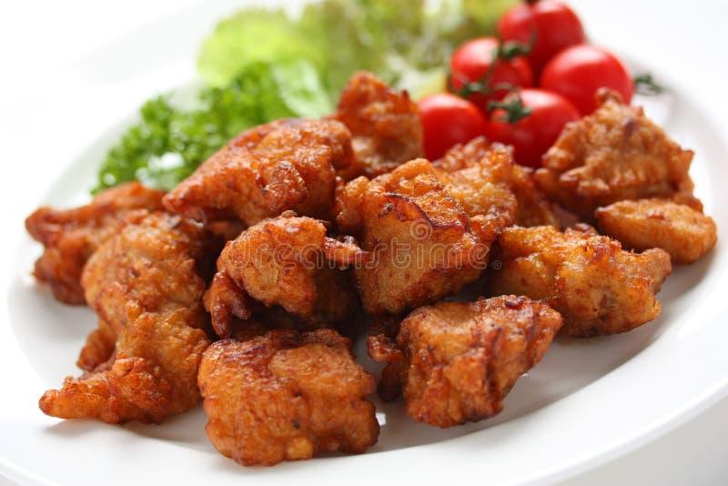 Pollo fritto giapponese immagini stock libere da diritti