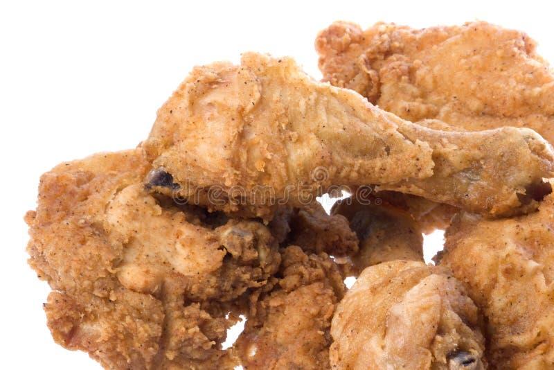 Pollo fritto isolato fotografia stock libera da diritti