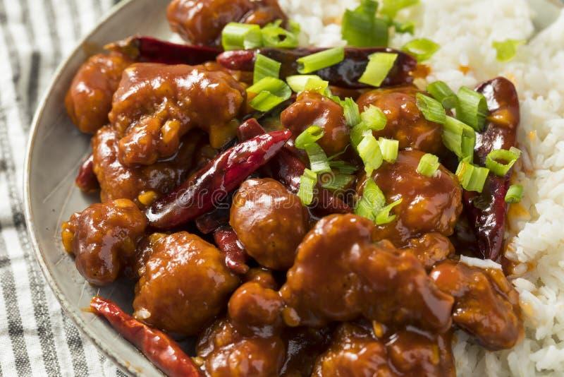 Pollo generale cinese casalingo di TSO fotografia stock