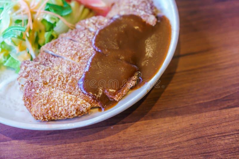Pollo giapponese di Teriyaki di stile dell'alimento con riso fotografia stock libera da diritti