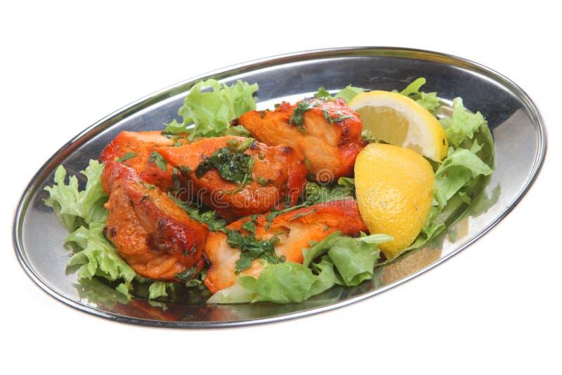 Pollo indiano Tikka fotografie stock