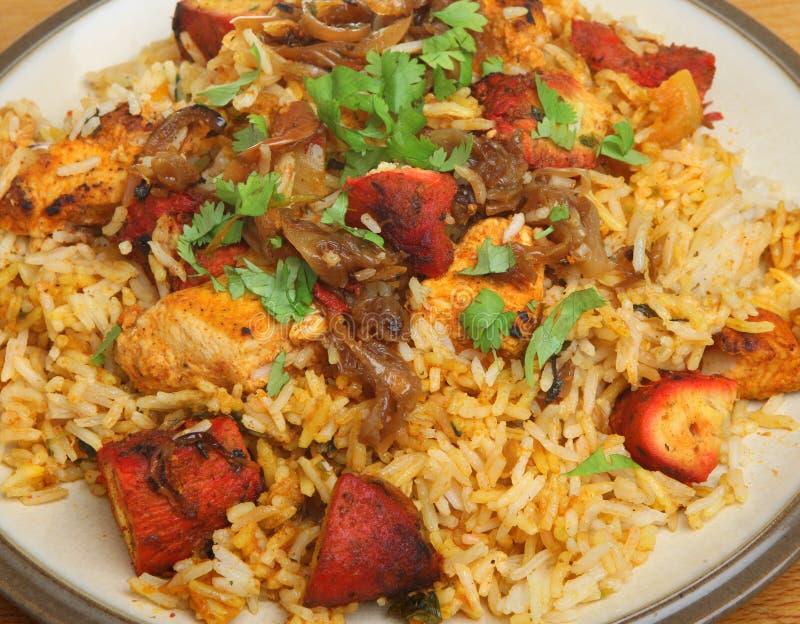 Pollo indiano Tikka Biriyani immagine stock