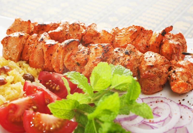 Pollo indiano Tikka del pasto fotografia stock