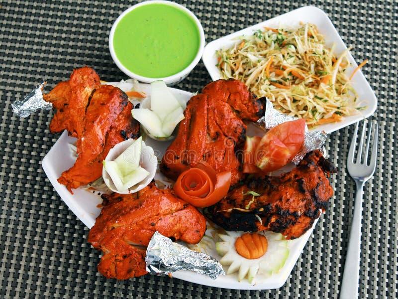 Pollo indio del norte de Tandoori de la cocina imagenes de archivo