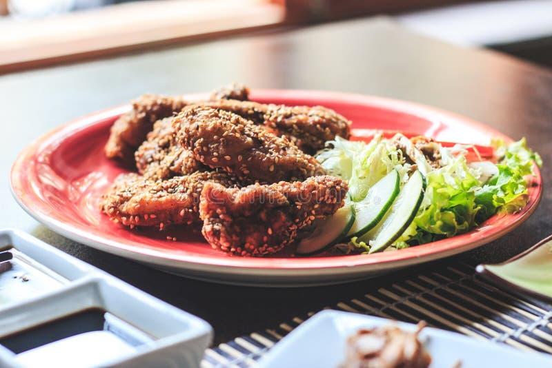 Pollo japonés del menú - Imagen imagenes de archivo