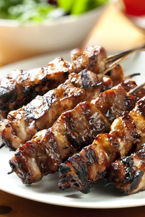 Pollo Kebabs fotografie stock