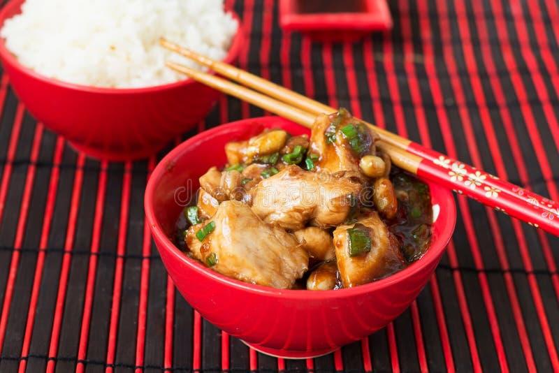 Pollo Kung Pao - piatti del cinese tradizionale immagine stock libera da diritti
