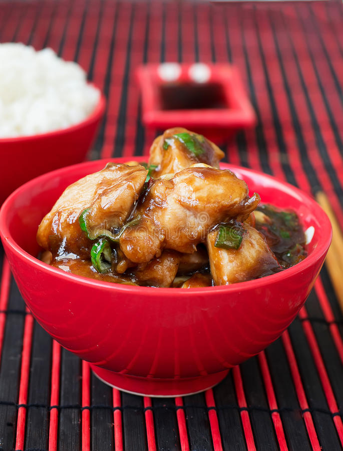 Pollo Kung Pao - piatti del cinese tradizionale fotografie stock libere da diritti