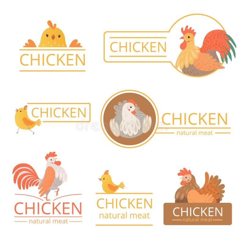 Pollo logo E royaltyfri illustrationer