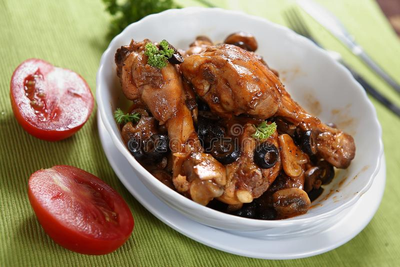 Pollo Marengo immagine stock