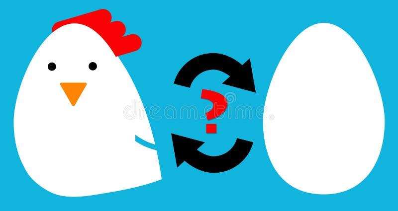 Pollo o uovo illustrazione di stock