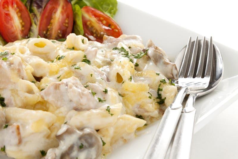 Pollo Penne Pasta fotografie stock