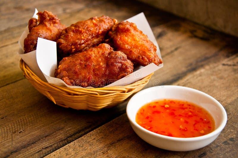 Pollo piccante con salsa dolce immagine stock