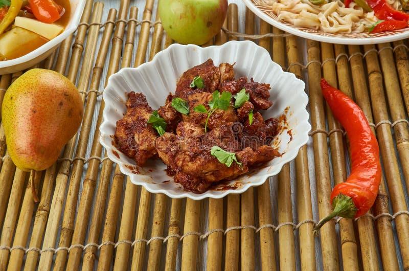 Pollo piccante di Szechuan fotografia stock libera da diritti