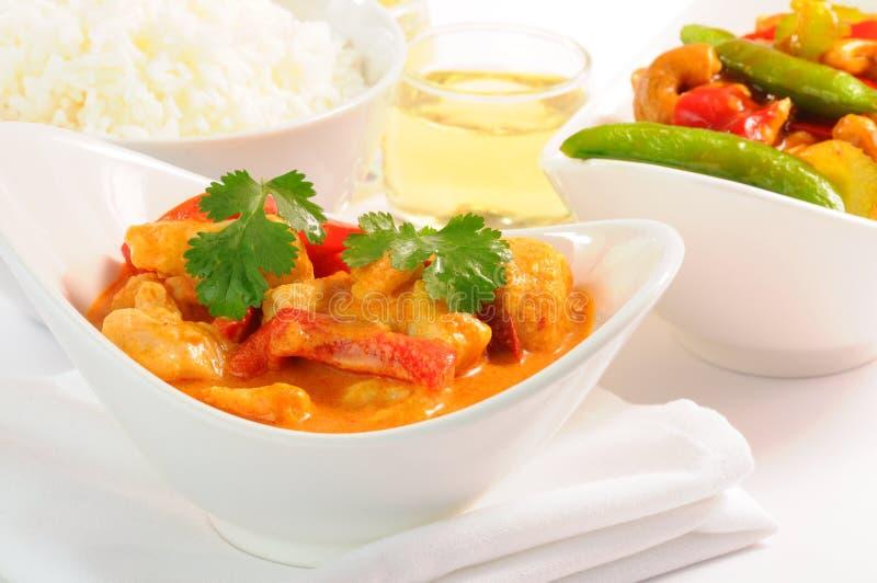 Pollo tailandese del curry fotografia stock