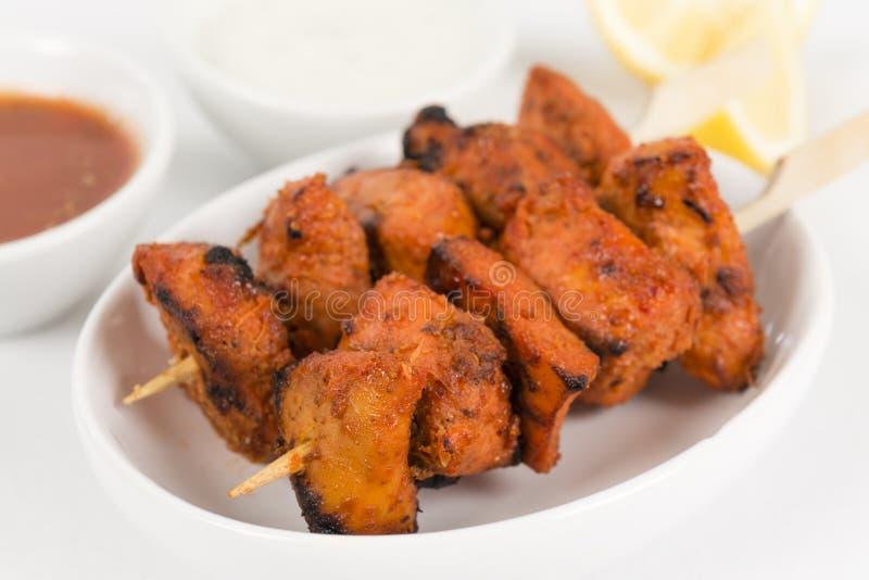 Pollo Tikka Kebab fotografie stock