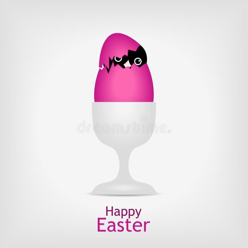 Pollo in uovo di Pasqua dentellare royalty illustrazione gratis
