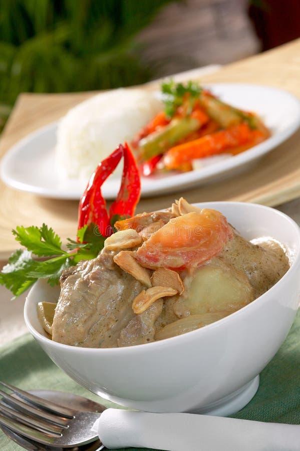 Pollo verde del curry fotografie stock libere da diritti
