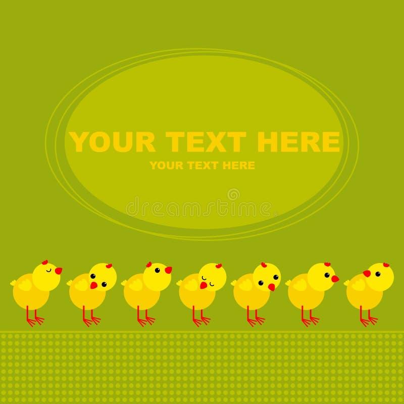 Pollos ilustración del vector