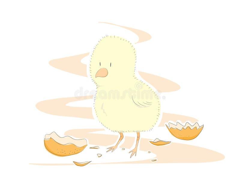 Polluelo lindo stock de ilustración