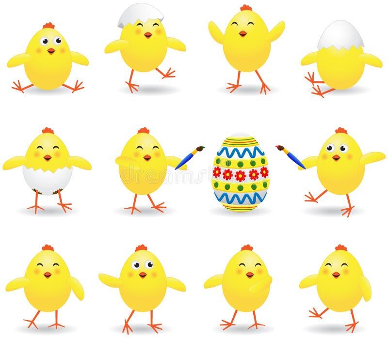 Polluelos de Pascua ilustración del vector