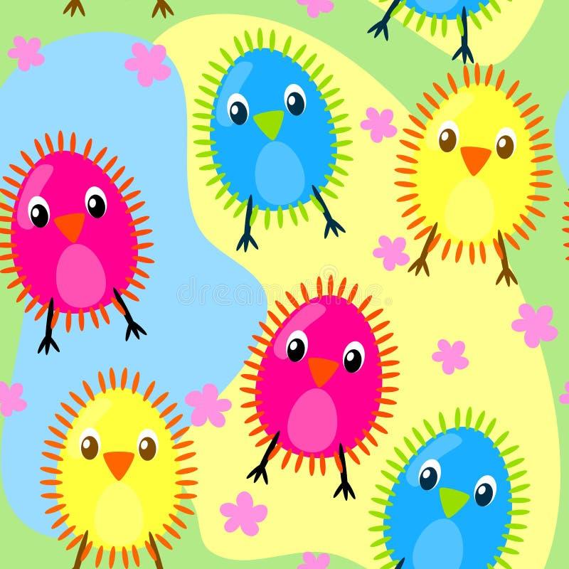 Polluelos peludos inconsútiles libre illustration