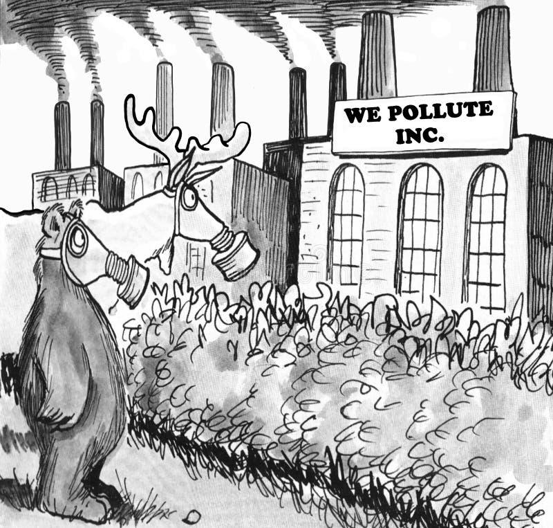 polluez illustration libre de droits