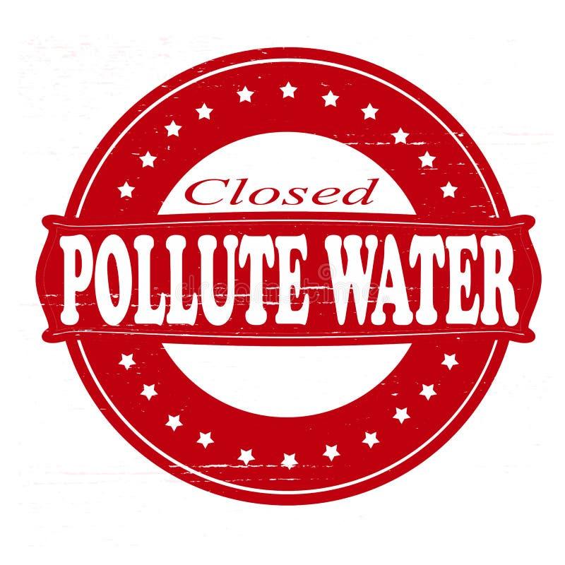 Polluez l'eau illustration de vecteur